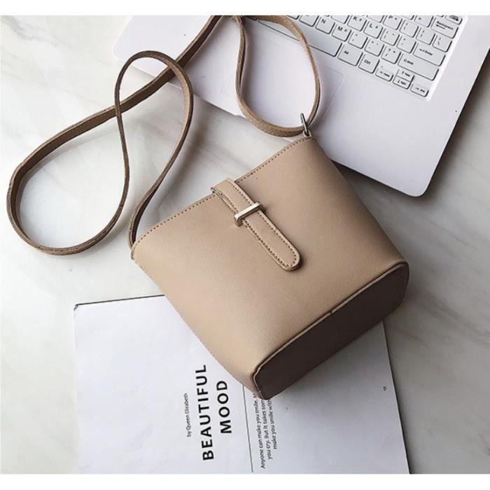 Petit sac sac femme nouvelle mode tout-match simple sac de messager à une épaule sac seau - a -