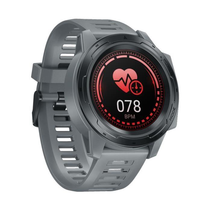 Gray Nouveau Zeblaze VIBE 5 PRO montre intelligente IP67 étanche fréquence cardiaque Multi sport suivi bluetooth Smartwatch hommes