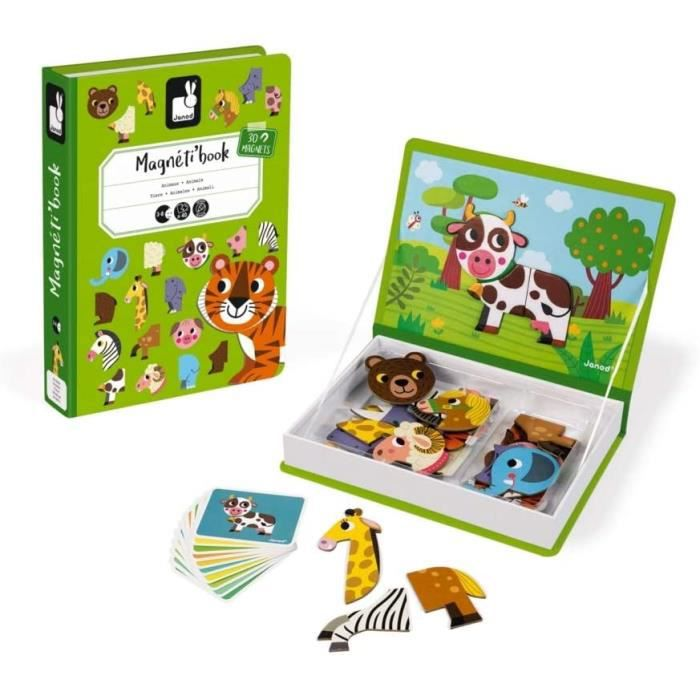 TABLEAU ENFANT Janod MagnetiBook Animaux Jeu Eacuteducatif Magneacutetique 30 Piegraveces Degraves 3 Ans J027231091