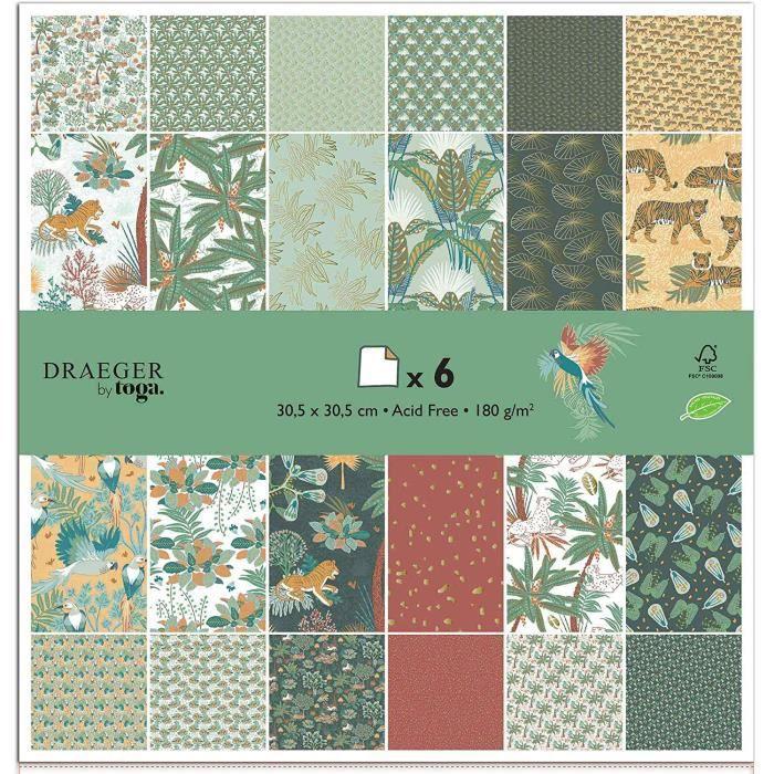 TOGA Papier scrapbooking, Multicolore, OneSize (30.5cm x30.5cm), Set de 6 Pièces