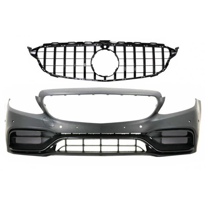 Pare-chocs avant pour Mercedes C W205 S205 A205 C205 14-18 C63 Look Grille Noir