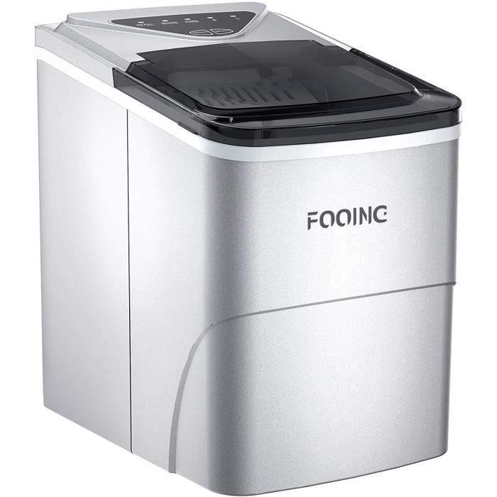Machine à glaçons Machine à glaçons Machine à glaçons Comptoir prêt en 6 minutes Machine à glaçons 2L avec cuillère à glace et A57