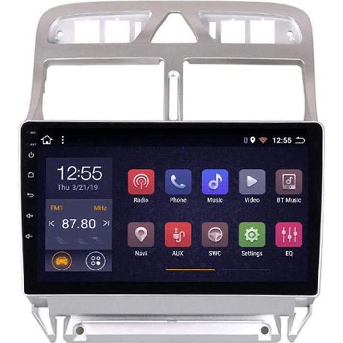 2G RAM 32G ROM 9 Pouces Autoradio pour Peugeot 307 2004 2013 Android 8.1 Lecteur Multimédia De Navigation GPS avec SWC(Size:Hui 12