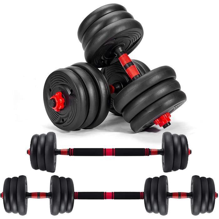 Haltères 20kg, Ensemble haltères Réglables, Poids Ajustable, Fitness pour Homme et Femme Entraînement Musculaire