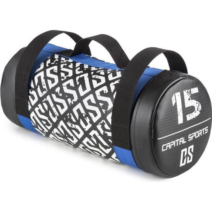 CAPITAL SPORTS Toughbag Power bag Sac de force lesté de sable 15 kg - cuir synthétique