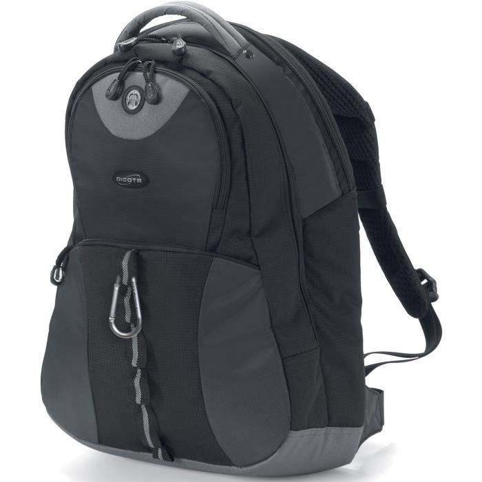 Dicota BacPac Mission XL. Type d'étui: Sac à dos, Taille maximum d'écran compatible: 43,9 cm (17.3-). Poids: 1,2 kg.