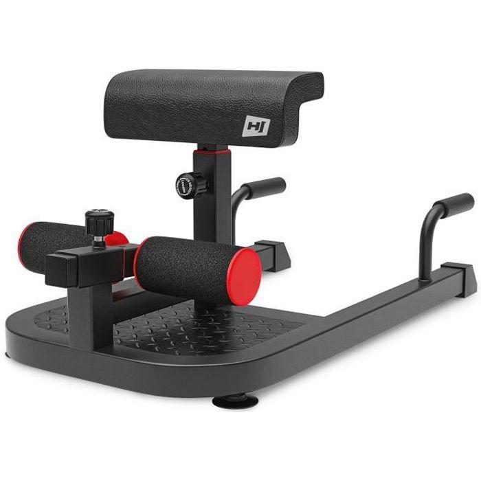 HS Hop-sport Squat Machine HS-2020SM, Sissy squat + Chaise Romaine, 4 types d'exercices