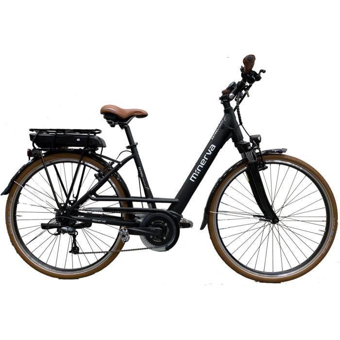 Vélo Bosch - Assistance électrique - Roues 28- - MINERVA - Femme - Noir