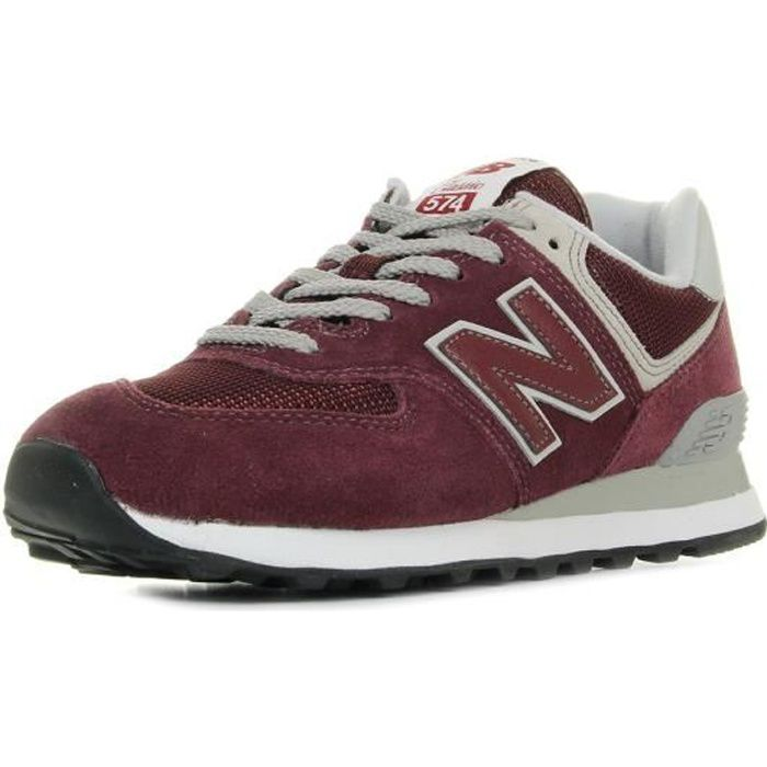 NEW BALANCE Baskets Collection 574 Rouge Mixte