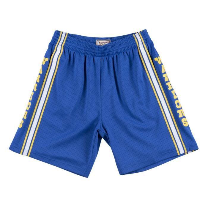 Short NBA Golden State Warriors 1981-82 Mitchell & Ness Swingman Bleu pour Homme