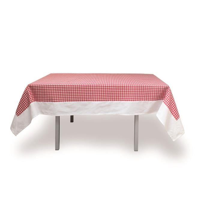 SOLEIL D'OCRE Nappe de table rectangulaire Vichy 140x240 cm rouge