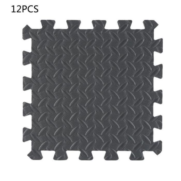 ZS27465-HTF Tapis de protection de sol – 12 dalles en mousse EVA - Matelas puzzle pour matériel fitness, gym, musculation 30,5x30,