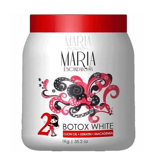 Lissage Brésilien Maria Escandalosa Botox White- Ojon Oil -Ketanin -Macadamia 1L