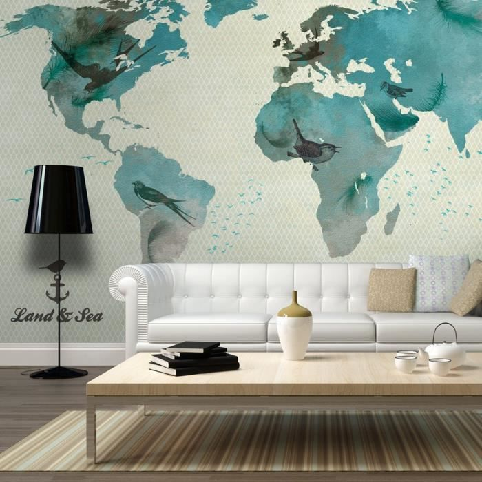affiche g ante poster xxl carte du monde 200x140 cm 4 l s achat vente papier peint. Black Bedroom Furniture Sets. Home Design Ideas