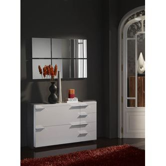 meuble d 39 entr e moderne miroir elouan colori achat vente meuble d 39 entr e meuble d 39 entr e. Black Bedroom Furniture Sets. Home Design Ideas