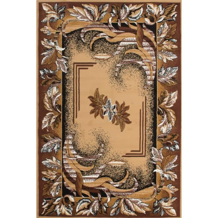 tapis de dessin moderne salon floral oriental persia beige. Black Bedroom Furniture Sets. Home Design Ideas
