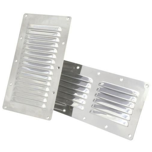 Grille d 39 a ration rectangulaire inox modele 228x127 mm grille d 39 a ration rectangulaire inox - Grille aeration reglable rectangulaire ...