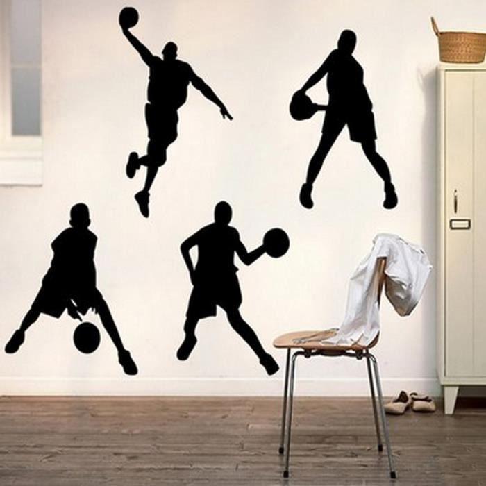 58/×38cm D/éCoration Mur D/éCalcomanies Art Maison D/éCor Mural Autocollants Basketball Autocollant Mural Art D/écoration Autocollant en Vinyle pour Joueur