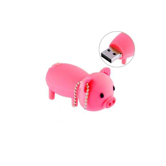 cl usb animal cochon rose fun fantaisie 8go prix pas cher cdiscount. Black Bedroom Furniture Sets. Home Design Ideas
