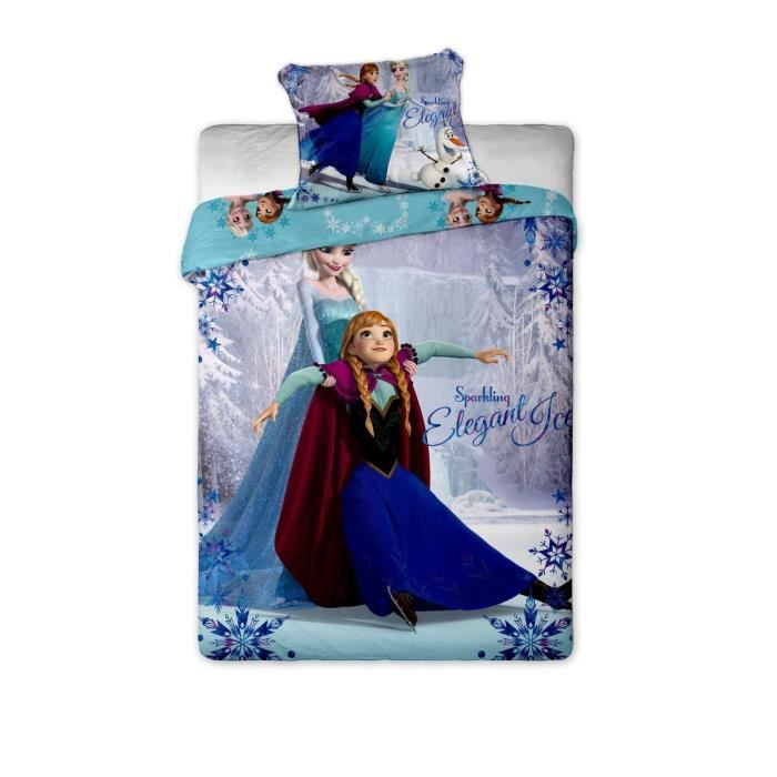 parure de lit reine des neiges frozen elsa anna disney. Black Bedroom Furniture Sets. Home Design Ideas