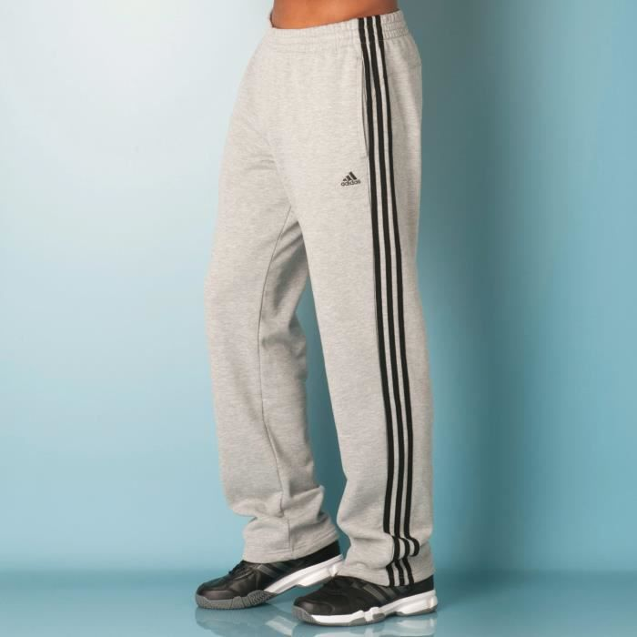 pantalon de surv tement 3 bandes adidas essentials pour homme en gris gris achat vente. Black Bedroom Furniture Sets. Home Design Ideas
