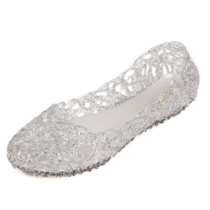 Sandales doux creux Jelly Summer Beach Flats Y3K8J Taille-37 1-2 0auetdh