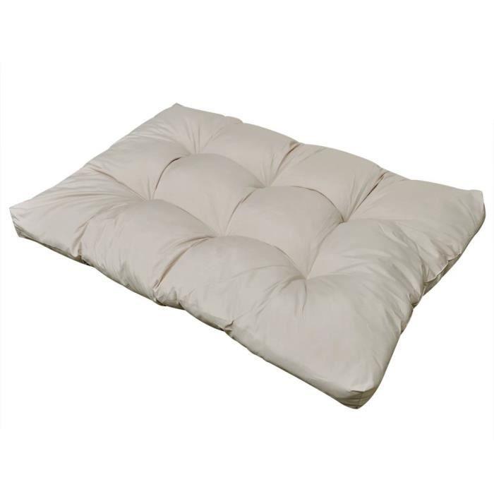 COUSSIN D'EXTÉRIEUR Coussin de siège rembourré Blanc sable 120 x 80 x