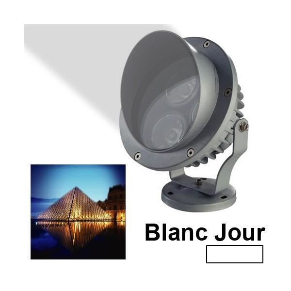 projecteur ext rieur led haute puissance blanc jour aluminium 3w achat vente projecteur. Black Bedroom Furniture Sets. Home Design Ideas