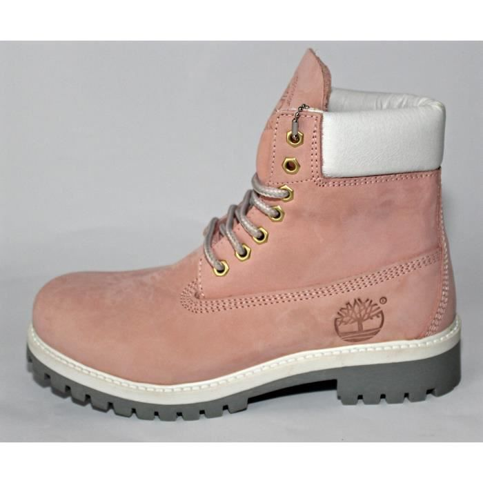 "BOTTINES CHAUSSURES""Timberland"" FEMME CUIR ROSE T 39OCCASION"