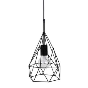 LUSTRE ET SUSPENSION GIZEH Lustre - suspension filaire noire forme pyra