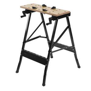 ETABLI - MEUBLE ATELIER Outils de table de travail pliant du bois réglable