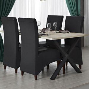 TABLE À MANGER SEULE Table à manger 180 cm moderne couleur chêne clair