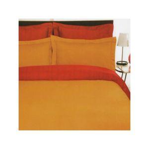 HOUSSE DE COUETTE SEULE Housse de couette satin 220x240 Orange - Rouge