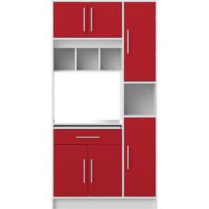 BUFFET DE CUISINE PEPPER Buffet de cuisine L 88 cm - Rouge mat