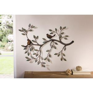 Decoration murale metal oiseaux achat vente decoration for Decoration murale objet