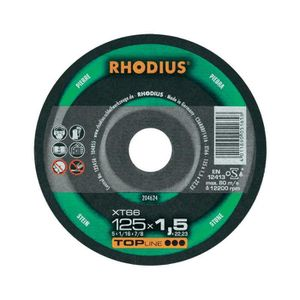 ACCESSOIRE MACHINE Disque à tronçonner Ø125MM Rhodius XT67