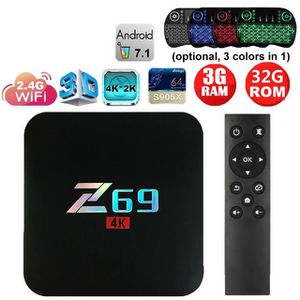 BOX MULTIMEDIA TV Box 3G 32 G Android 7.1 Smart TV Box Amlogic S9