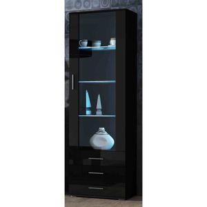 VITRINE - ARGENTIER Meuble vitrine design SANO Noir