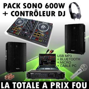 PACK SONO SONO DJ + CONTROLEUR NUMARK PARTY MIX + AMPLI + EN