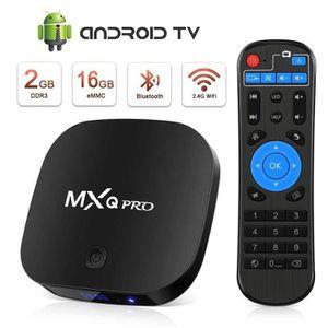 BOX MULTIMEDIA Android tv box 4K HDR Quad-Core H.265 2.4G WIFI MX