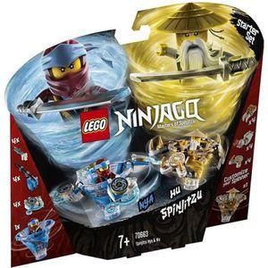 ASSEMBLAGE CONSTRUCTION LEGO NINJAGO - Toupies Spinjitzu Nya & Wu - 70663