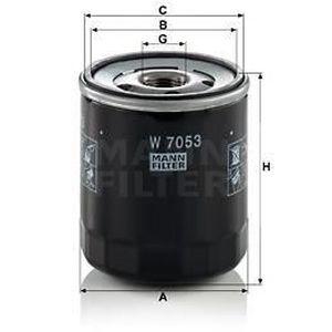 FILTRE A HUILE MANN FILTER Filtre à huile W7053