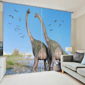 LANCE-RIDEAU Rideaux Motif dinosaures Jurassic Park l'ombrage 1