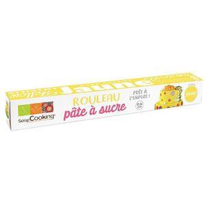 PATE A SUCRE Pâte à sucre en rouleau jaune Ø 36 cm - 430 g