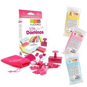 DOMINOS ScrapCooking - Kit Dominos + 3 sachets de pâte à s
