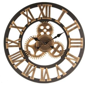 Chambre Seciie 58cm Horloge Murale Geante XXL Pendule Industriel Horloge Silensieuse Horloge /à Quartz Vintage pour Salon Salle Bureau