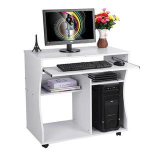 MEUBLE INFORMATIQUE Bureau d'ordinateur en bois Table d'ordinateur - B