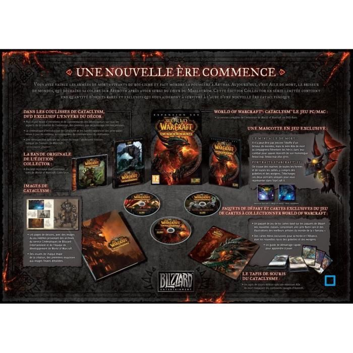 JEU PC WORLD OF WARCRAFT CATACLYSM Edition Collector