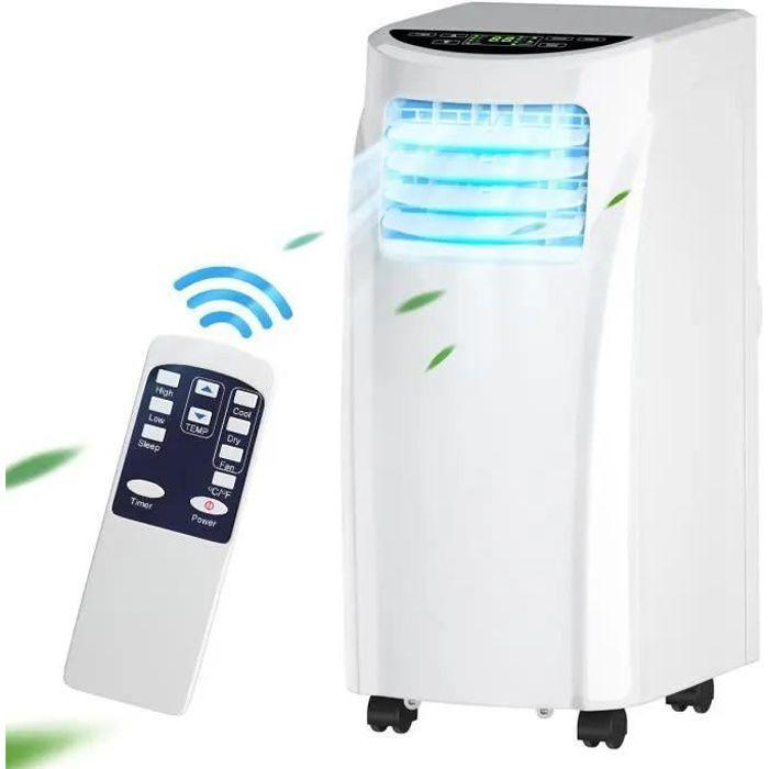 Giantex Climatiseur 3 en 1, refroidisseur, ventilateur et déshumidificateur d 'air, tuyau d' échappement et télécommande, minuteur