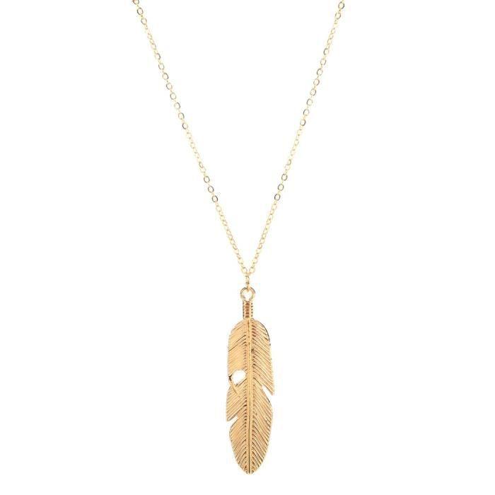 Chaine De Cou Vendue Seule AQEHW Vintage Plume d'ange Pendentif Bijoux Déclaration de la chaîne des femmes